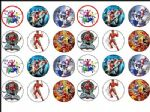 24 x Power Rangers Rice Wafer Paper Cup Cake Bun Toppers